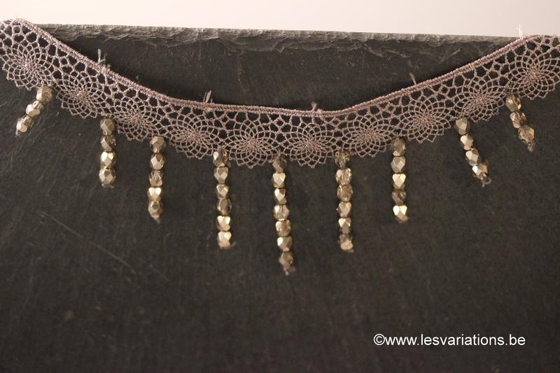 bijoux au crochet avec des perles